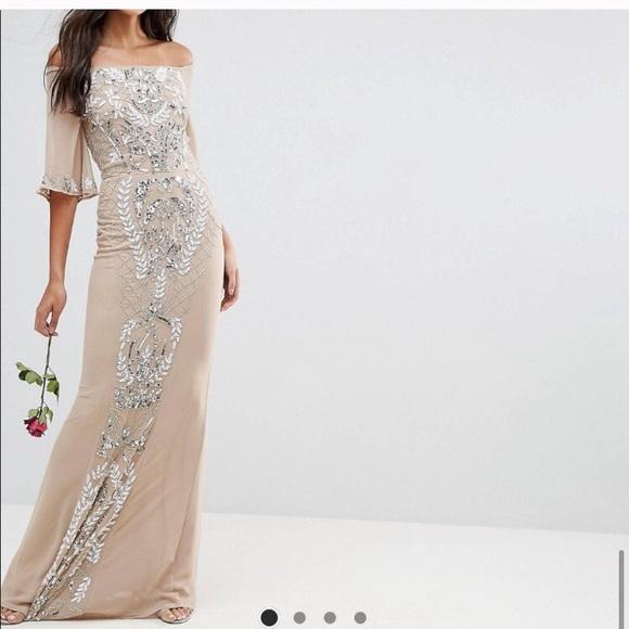 Maya maxi embellished dress